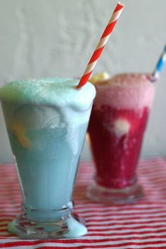 4th of July Ice Cream Floats