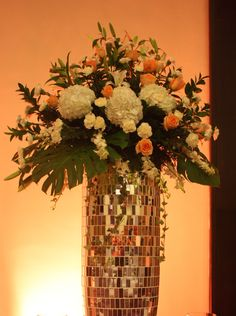Flowers #wedding #centerpiece #love #peachlove