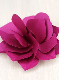 How To Make A Paper Flower ~ Be Different...Act Normal