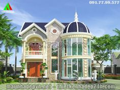 Plans Architecture, Fantasy House, Classic House, Modern House Design, Gazebo, Outdoor Structures, Mansions, House Styles, Villa