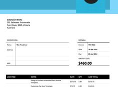 If you like a fresh look then the project forest xero invoice this is our bold blue xero invoice template saigontimesfo