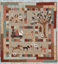 """A Dog's Life"" BOM by Lynette Anderson as seen at The Quilting Garden"