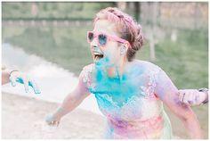 After Wedding Trash The Dress Photo Shoot Austria with Holi Colours