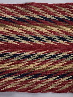 Sash called ceinture fléchée Canadian Wool, finger-woven with braided fringe Centimetres: 339 (length), 20 (width) century Are. Finger Weaving, Royal Ontario Museum, Make A Change, Online Collections, First Nations, Sash, Textiles, Color, North America