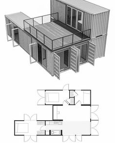 Looking for how to renovate shipping container into house, Shop, Garage or Workshop? Here are extensive shipping Container Houses Ideas for you! shipping container homes Shipping Container Home Designs, Shipping Container House Plans, Container Home Plans, Cheap Shipping Containers, Shipping Container Buildings, Layouts Casa, House Layouts, Storage Container Homes, Building A Container Home