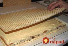 Hľadáte skvelý dezert na Veľkú noc? Skúste tieto tortové oblátky. Sú výborné a tento krém určite využijete aj do iných dezertov. Potrebujeme: Tortové oblátky Na piškótu: 9 bielok 370 g kr. cukru 180 g masla alebo margarínu 150 g mletých orechov 150 g Kolaci I Torte, Serbian Recipes, Biscuit Cake, Small Cake, Desert Recipes, Tray Bakes, Cake Cookies, Sweet Recipes, Biscuits