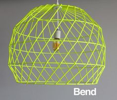 We are swooning over this neon lamp shade!