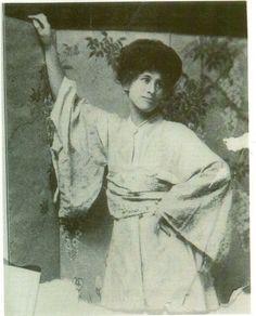 Winnifred Eaton (a.k.a. Onoto Watanna, posed in costume)