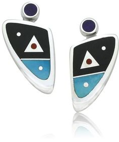 Ray Tracey Inlaid Earrings