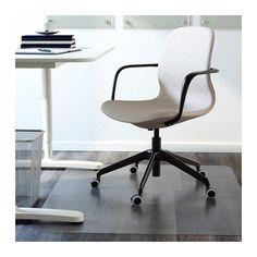 LÅNGFJÄLL Swivel chair - Gunnared beige, black - IKEA