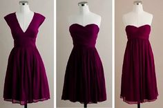 Idea for bridesmaids dresses - perfect range of colours, and they aren't too matchy-matchy. Maybe all have the same little cardigan? (not sure if they'll like that idea).