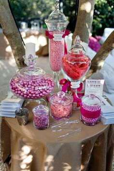 Candy bar. Just an idea for the jar shapes, even though I have several already. Love the sizes of these ones.
