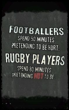 Footballers means soccer players just incase an Americans are concerned – Game Day Quotes Rugby Vs Football, Rugby Gear, American Football, Rugby Images, Rugby Pictures, Rugby Rules, Game Day Quotes, All Blacks, Rugby World Cup