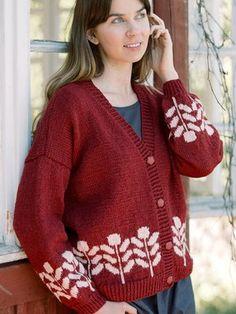 Marja Cardigan in Novita Nordic Wool Granny Pattern, Crochet Cardigan Pattern, Knit Crochet, Lace Patterns, Knitting Patterns Free, Free Knitting, Modern Patterns, Cardigans For Women, Wool