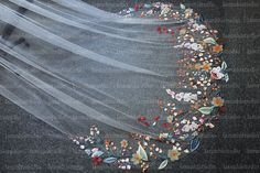 Got Married, Getting Married, Flower Veil, Organza Flowers, Wedding Veil, Embroidery, Bridal, Lace, Needlepoint