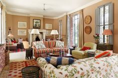 Moroccan Living Room - An elegant house combining English country house style with traditional Moroccan elements - living rooms on HOUSE by House & Garden.