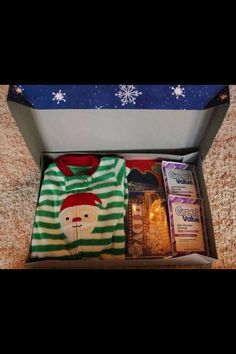 Christmas Eve presents! Give the kids a gift with new Christmas Jammies, hot chocolate and a snack for a movie that night.