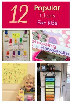 Have you been wondering if charts will work for your kids? Homeschool parents and teachers have been creating various charts for kids for years. Here are some great ideas we found around the web!