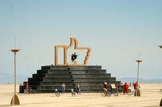 A sculpture at Burning Man 2013