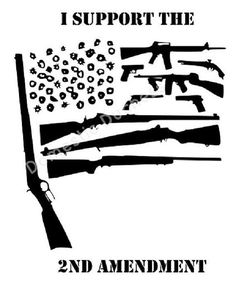 What better way to show that you support your Amendment right to bear arms than with this awesome graphic of the American flag? Vinyl Crafts, Vinyl Projects, Silhouette Files, Silhouette Cameo, Diy Tumblers, Cricut Explore Air, 2nd Amendment, Cricut Creations, Vinyl Decals