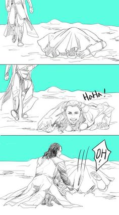 From the Thor 2 gag reel!