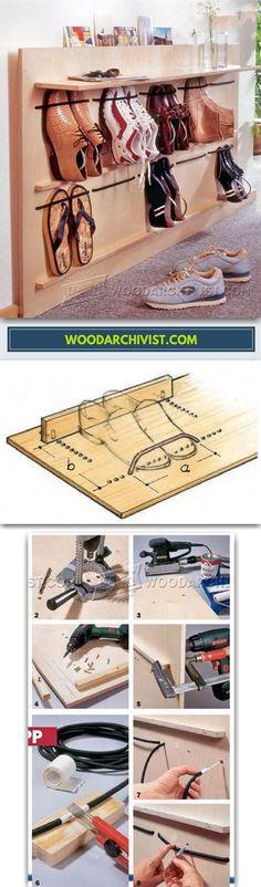 DIY Shoe Rack - Furniture Plans and Projects | WoodArchivist.com #diyshoes
