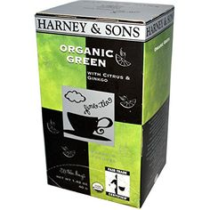 Harney  Sons Organic Green Tea with Citrus  Ginkgo 20 Tea Bags 142 oz 40 g  2pcs * You can find more details by visiting the image link.