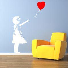 Banksy Balloon Girl Wall Sticker