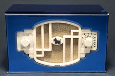 """Remler model 40 """"Scottie"""" with factory blue mirror case. The mirror case was an add-on available at Remler in 1936 at a cost of $20.00"""
