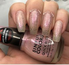 Sinful Colors Quick Bliss Ice Ice Cherry (Qty- 2) Fast Nail, Sinful Colors, Dried Cherries, Bliss, Swatch, Cherry, Nail Polish, Ice, Texture
