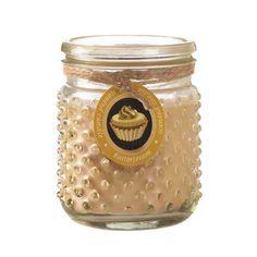BUTTER CREAM HOBNAIL JAR CANDLE