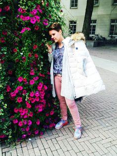 Outfit der Woche! Bluse, Hose & Steppmantel: Marc O'Polo – Cardigan: Opus – Gürtel: Vanzetti – Kette: Leslii #ootw #fashion