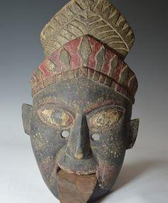 kali_mask_nepal_1 Durga Puja, Himalayan, Congo, Tibet, Headdress, Nepal, Jade, Masks, Carving