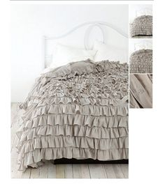 talk about dressing the bed! Wishing I didn't have a comforter so I could get this one instead!