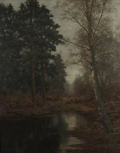 arcadiainteriorana:  The Pool beneath the PinesWalter Boodle (British, 1862–1914) Oil on canvas, 129.5 x 76.2cm, 1897.Victoria Art Gallery.