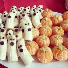 Halloween treats, banana ghosts