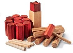 Pieces for Kubb lawn game