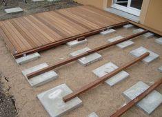 Search result for to make a cheap terrace on ground of Deck Designs Hinterhof, Deck Garten, Decks Hi . Backyard Sheds, Backyard Patio Designs, Backyard Projects, Outdoor Projects, Backyard Landscaping, Diy Patio, Deck Design, Garden Design, Ground Level Deck