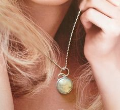Floating Moon Coin pearl and sterling silver necklace. Sometimes simple and classic says it best.