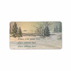 Winter adress lable custom address labels