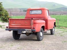 Old 4x4 Pickup Trucks | 1957 GMC NAPCO 4x4 Pickup Truck Black Plate California Driver For Sale ...
