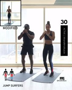 JUMP Surfers - Hiit workouts at home - Fitness Workouts, Full Body Hiit Workout, Gym Workout Videos, Fitness Workout For Women, Pilates Workout, Body Fitness, At Home Workouts, Cardio Hiit, Workout Plans