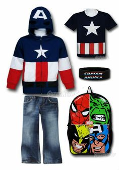 FOR SCHOOL: Captain America Inspired Kid's Outfit by Mary Huth.