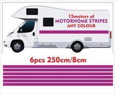 Motorhome Vinyl Stripes Stickers for Camper, Van, Horsebox, Caravan, RV Camper Caravan, Rv Campers, Camper Van, Motorhome, Recreational Vehicles, Vinyl Decals, Stripes, Stickers, Camper