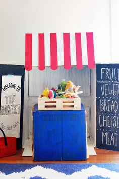 Make A Market From A Cardboard Box - Along Abbey Road