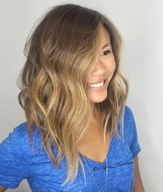 Honey Brown Asymmetrical Lob