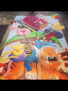 Paseo Colorado Chalk Fest 2015, Jen Swain, winner Best Animation Chalk Drawings, Cool Animations, Colorado, Painting, Art, Art Background, Aspen Colorado, Painting Art, Kunst