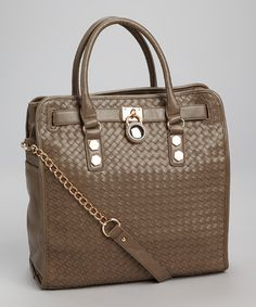 Take a look at this Light Gray Weave Tote by Segolene Paris on #zulily today!