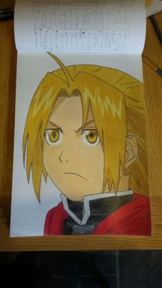 My Drawing of Edward Elric for Fullmetal Alchemist Brotherhood