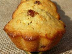 Petits moelleux vanillés pommes-raisins, Recette Ptitchef